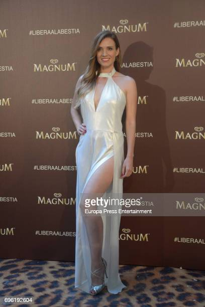 Carmen Corazzini attends the Magnum new campaign presentation party at the Palacete de Fortuny on June 14 2017 in Madrid Spain
