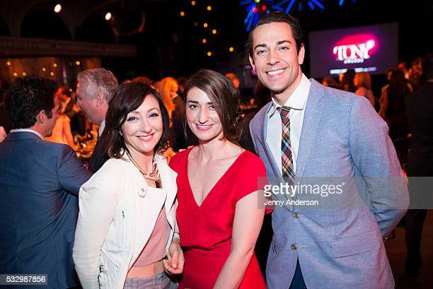 Carmen Cusack Sara Bareilles and Zachary Levi attend Tony Awards 2016 Luncheon at Diamond Horseshoe on May 19 2016 in New York City