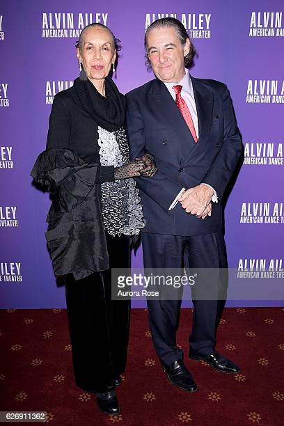 Carmen De Lavallade and Charles Mirotznik attend Alvin Ailey American Dance Theater Opening Night Gala Benefit 'An Evening of Ailey and Jazz' at New...