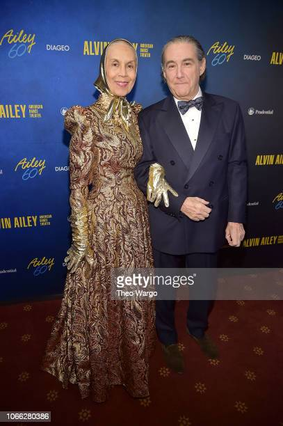 Carmen de Lavallade and guest attend the Alvin Ailey American Dance Theater's 60th Anniversary Opening Night Gala Benefit at New York City Center on...