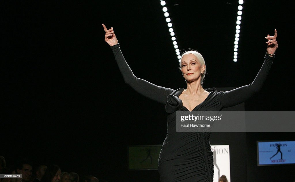 Carmen Del Orefice walks the runway at the 'Fashion for Relief' fashion show, with proceeds going to aid Hurricane Katrina victims, during Olympus Fashion Week at Bryant Park September 16, 2005 in New York City.