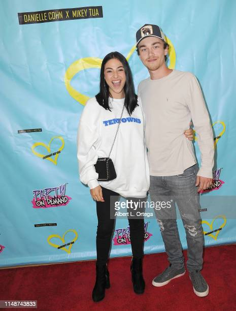 Carmen Deleon and Tyson attend the Release Party For Dani Cohn And Mikey Tua's Song Somebody Like You held at The Industry Loft on June 8 2019 in Los...