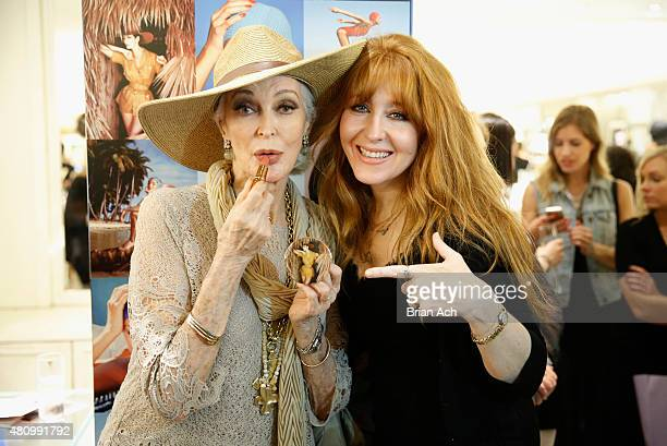 Carmen Dell'Orefice and makeup artist Charlotte Tilbury attend as Charlotte Tilbury and Bergdorf Goodman celebrate the Limited Edition Charlotte...