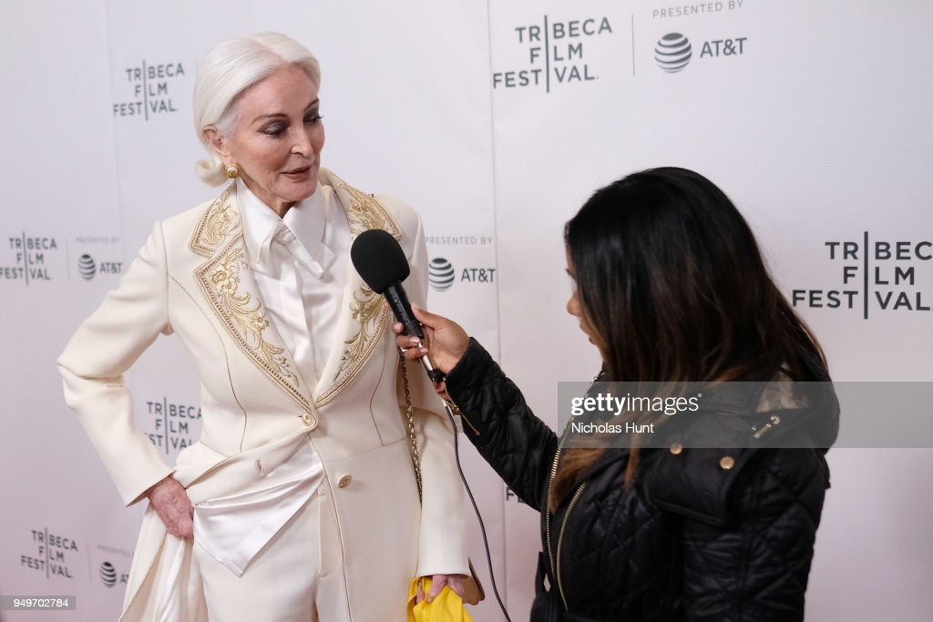 Carmen Dell'Orefice attends a screening of 'Yellow Is Forbidden' during the 2018 Tribeca Film Festival at Cinepolis Chelsea on April 21, 2018 in New York City.