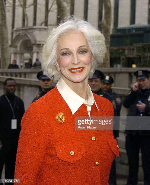 Carmen Dell'Orefice during Olympus Fashion Week Fall 2005 The Heart Truth Red Dress Collection Fashion Show Departures at Olympus Fashion Week at...