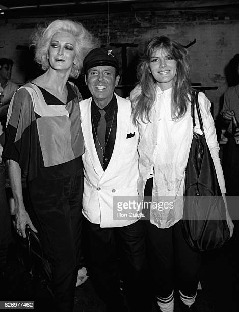 Carmen Dell'Orefice Francesco Scavullo and Rene Russo attend Francesco Scavullo Fall Fashion Preview Party on June 3 1985 at the Ballroom in New York...
