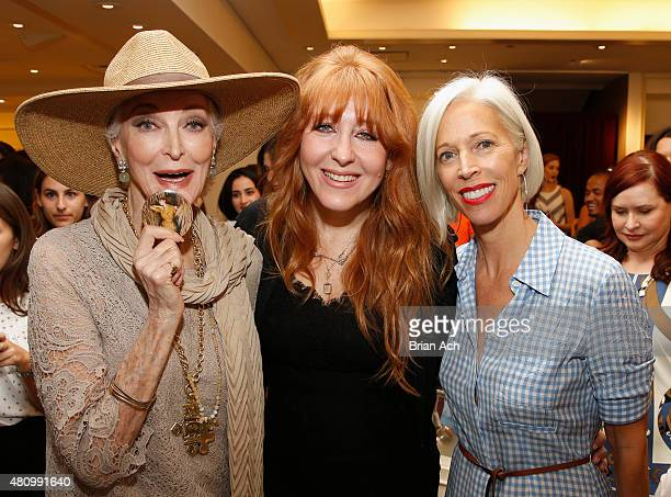 Carmen Dell'Orefice makeup artist Charlotte Tilbury and Senior Vice President Women's Fashion Director and Store Presentation at Bergdorf Goodman...