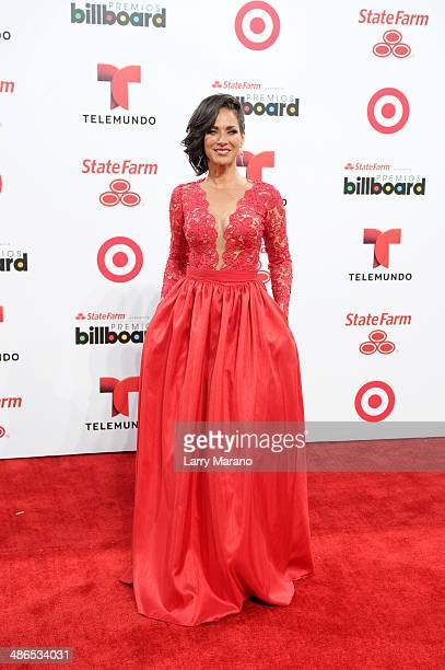 Carmen Domicci attends the 2014 Billboard Latin Music Awards at Bank United Center on April 24 2014 in Miami Florida