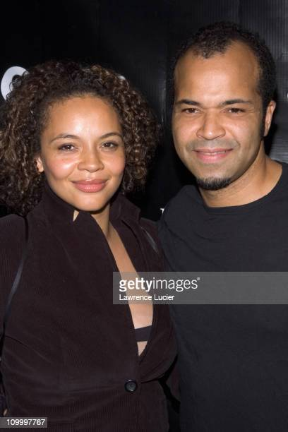 Carmen Ejogo and Jeffrey Wright during Esquire Magazine and Minnie Driver Host OXFAM America Charity Event at Esquire Downtown at Astor Place in New...
