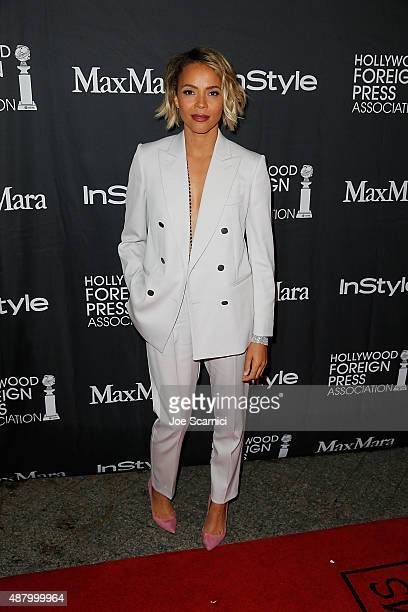 Carmen Ejogo attends HFPA/InStyle's Annual TIFF Celebration at Windsor Arms Hotel on September 12 2015 in Toronto Canada
