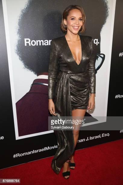 Carmen Ejogo attends Roman J Israel Esquire New York Premiere on November 20 2017 in New York City