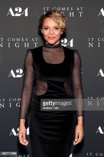 Carmen Ejogo attends the 'It Comes At Night' New York premiere at Metrograph on June 5 2017 in New York City