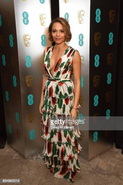 Carmen Ejogo attends the official after party dinner for the EE British Academy Film Awards at Grosvenor House on February 12 2017 in London England