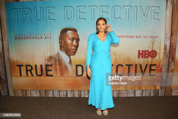 Carmen Ejogo attends the premiere of HBO's True Detective Season 3 at Directors Guild Of America on January 10 2019 in Los Angeles California