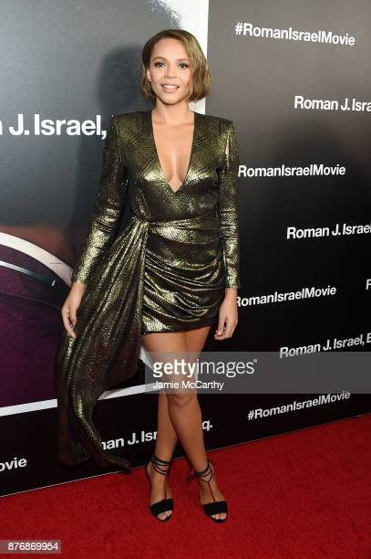 Carmen Ejogo attends the screening of Roman J Israel Esq at Henry R Luce Auditorium at Brookfield Place on November 20 2017 in New York City