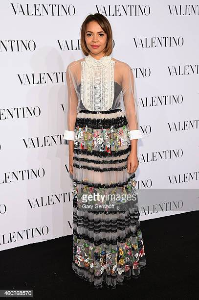 Carmen Ejogo attends the Valentino Sala Bianca 945 Event on December 10 2014 in New York City