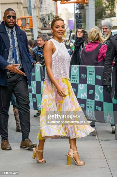Carmen Ejogo is seen on October 30 2017 in New York City