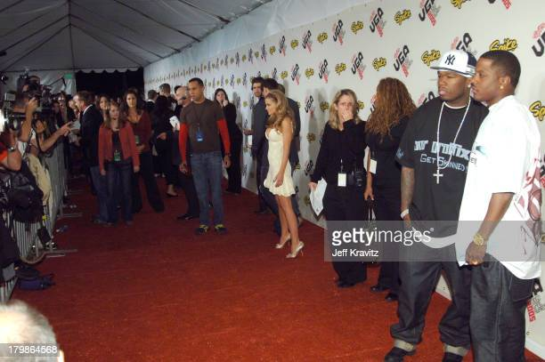 Carmen Electra 50 Cent and Mase during 2005 Spike TV Video Game Awards Red Carpet at Gibson Amphitheater in Universal City California United States