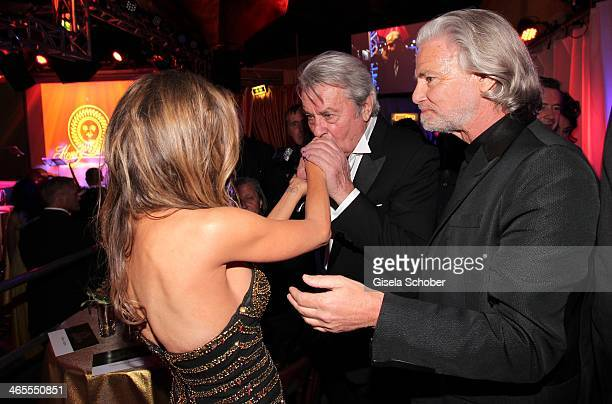 Carmen Electra Alain Delon and Hermann Buehlbecker attend the Lambertz Monday Night at Alter Wartesaal on January 27 2014 in Cologne Germany