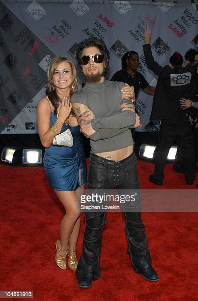 Carmen Electra and Dave Navarro during 2003 MTV Video Music Awards Arrivals at Radio City Music Hall in New York City New York United States