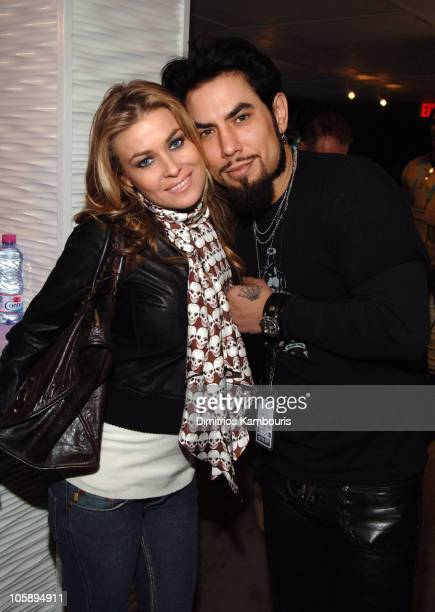 Carmen Electra and Dave Navarro during 2006 Park City W Lounge Celebrity Poker Tournament at W Tent at Village at the Lift in Park City Utah United...
