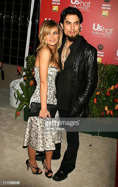 Carmen Electra and Dave Navarro during 2006 US Weekly Hot Hollywood Awards Arrivals at Republic Restaurant Lounge in Los Angeles California United...