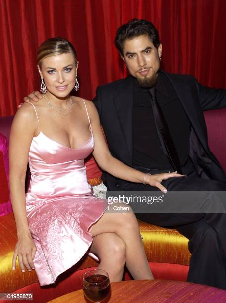 Carmen Electra and Dave Navarro during Elton John AIDS Foundation's 11th Annual Oscar party cohosted by In Style and AOL in association with MAC...
