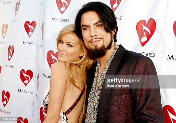 Carmen Electra and Dave Navarro during Musicares MAP Fund Benefit Concert to Honor Dave Navarro at The Music Box in Hollywood California United States
