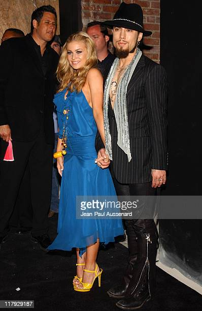 Carmen Electra and Dave Navarro during Rokbar Hollywood Launch Party Arrivals at Rokbar Hollywood in Hollywood California United States