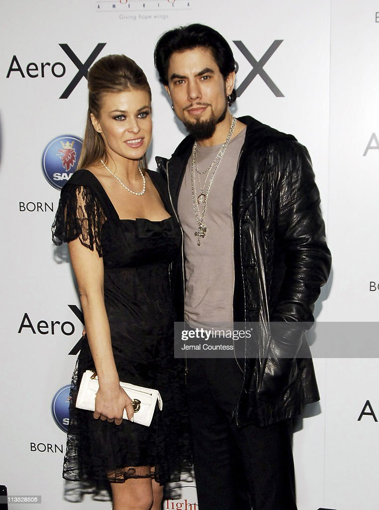 Carmen Electra and Dave Navarro during SAAB Introduces Their New Concept Vehicle The 'Aero X' and Announces Their Philanthropic Partnership With Angel Flight America at The Altman Building in New York City, New York, United States.
