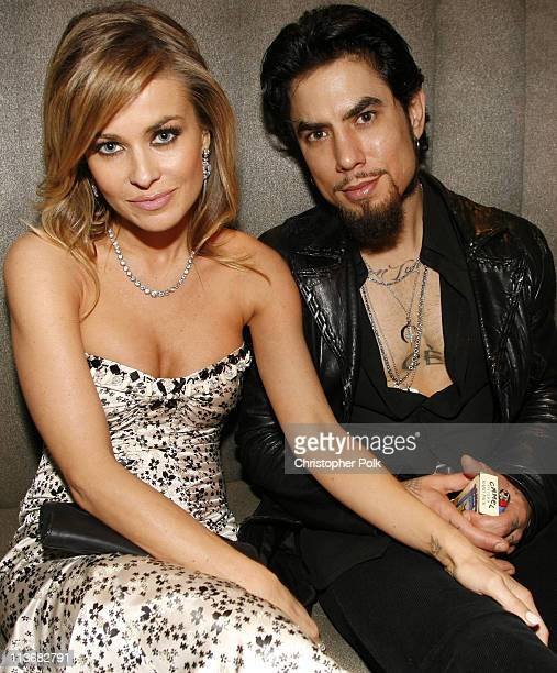 Carmen Electra and Dave Navarro during Us Weekly Hot Hollywood Awards - Inside at Republic Restaurant & Lounge in West Hollywood, California, United...