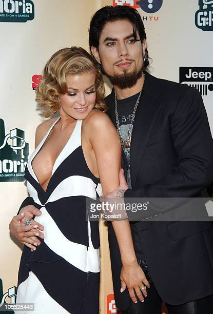 Carmen Electra and husband Dave Navarro during 'GPhoria The Award Show 4 Gamers' Arrivals at Shrine Exposition Center in Los Angeles California...