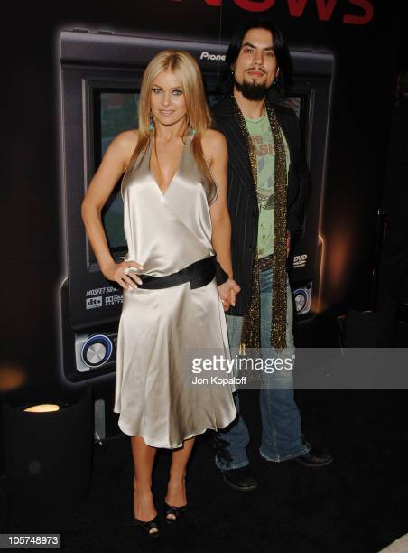 Carmen Electra and husband Dave Navarro during Pioneer Electronics Party at Montmartre Lounge in Hollywood California United States
