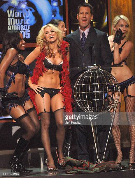 Carmen Electra and James Denton during 2005 World Music Awards Show at Kodak Theater in Hollywood California United States