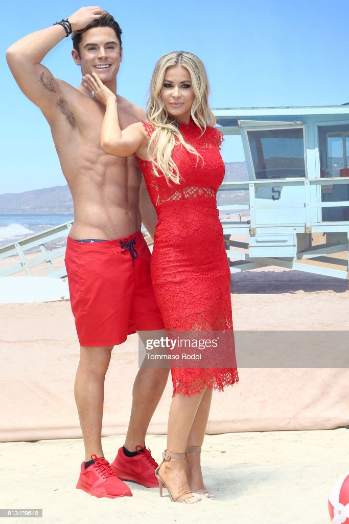 Carmen Electra and Madame Tussauds Hollywood Unveil A Wax Figure Of Zac Efron at Madame Tussauds on July 12, 2017 in Hollywood, California.