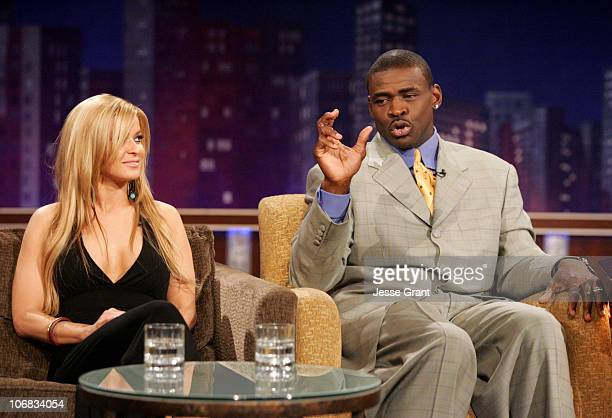 Carmen Electra and Michael Irvin on the 'Jimmy Kimmel Live' show on ABC Photo by Jesse Grant/WireImagecom/ABC