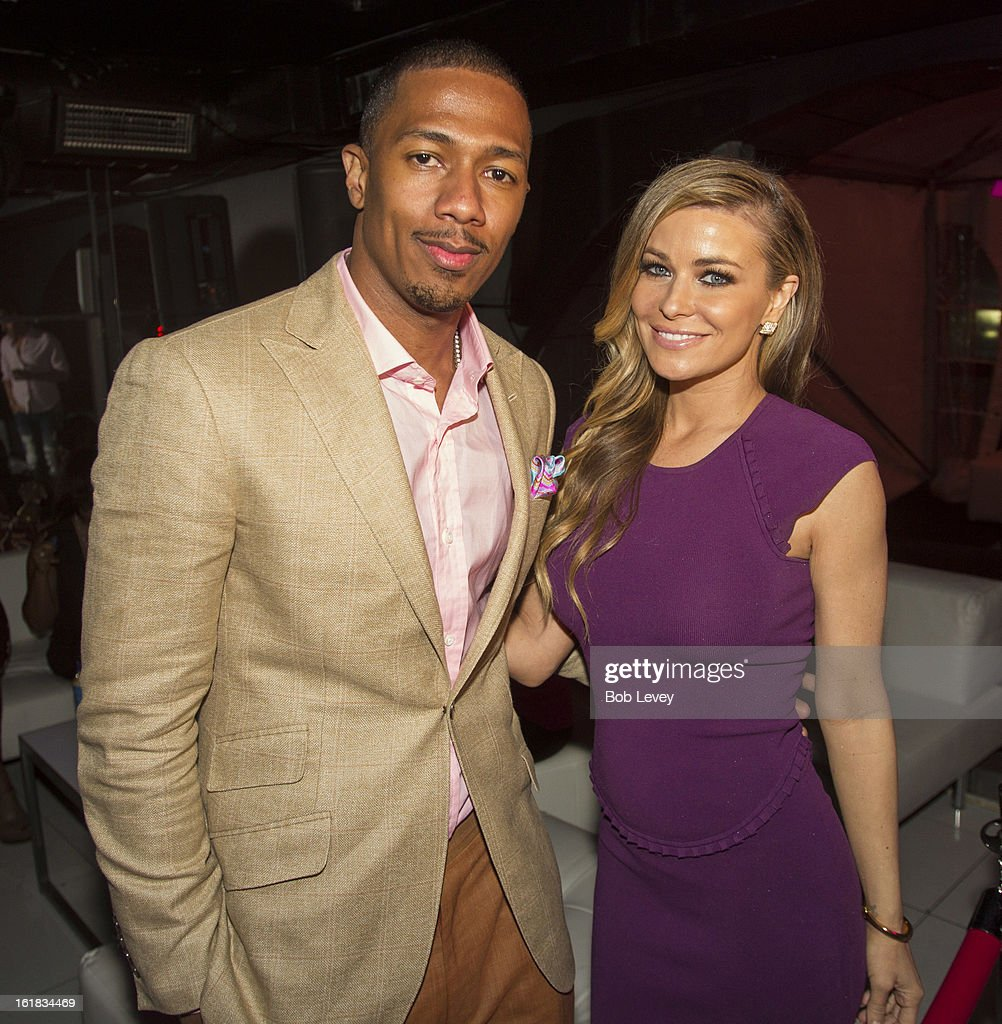 Carmen Electra and Nick Cannon at Beverly Hills Sports And Entertainment Group Present The Event: Steel Toes And Stilettos Party at The Phantom on February 16, 2013 in Houston, Texas.