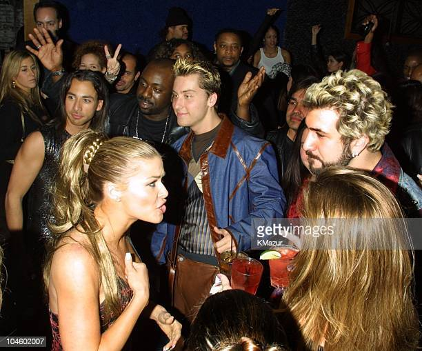 Carmen Electra and *NSYNC during The 28th Annual American Music Awards Columbia Records After Party at Las Palmas in Hollywood California United...