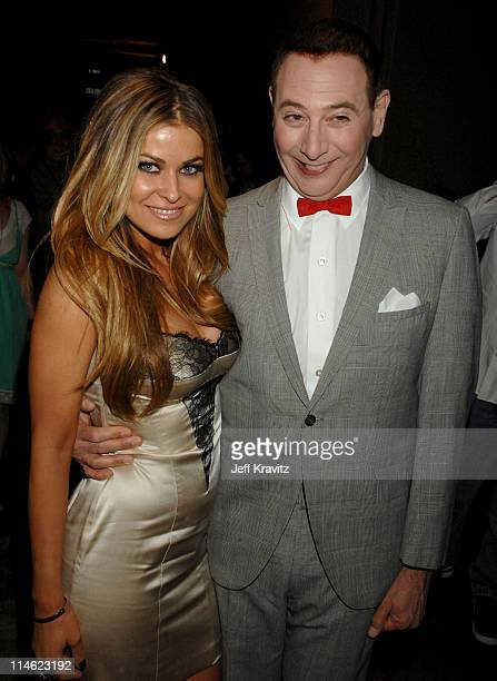 Carmen Electra and Paul Reubens as Pee Wee Herman during First Annual Spike TV's Guys Choice Backstage and Audience at Radford Studios in Los Angeles...