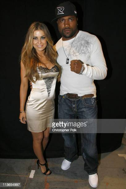 "Carmen Electra and Quinton ""Rampage"" Jackson during First Annual Spike TV's Guys Choice - Backstage and Audience at Radford Studios in Los Angeles,..."