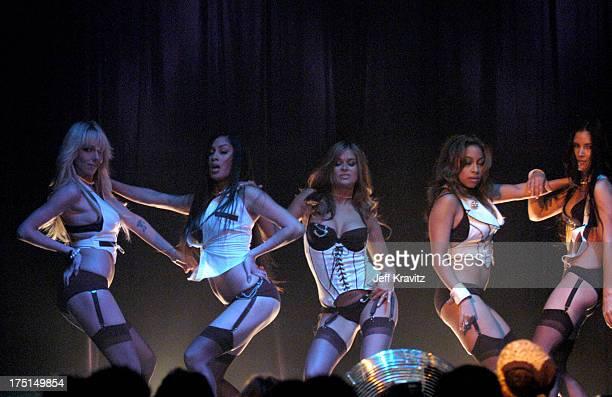 Carmen Electra and the Bombshell Babes during Camp Freddy Benefit Concert for South East Asia Tsunami Relief at Key Club in Hollywood California...