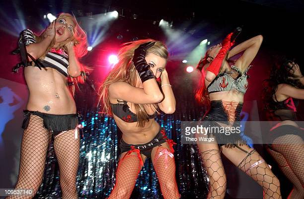 Carmen Electra and The Pussycat Dolls during Carmen Electra and The Pussycat Dolls in their First and Only New York Performance at Irving Plaza in...