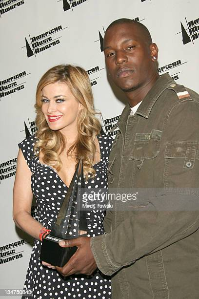 Carmen Electra and Tyrese Gibson during 2006 American Music Awards Nominations at Beverly Hills Hotel in Beverly Hills CA United States