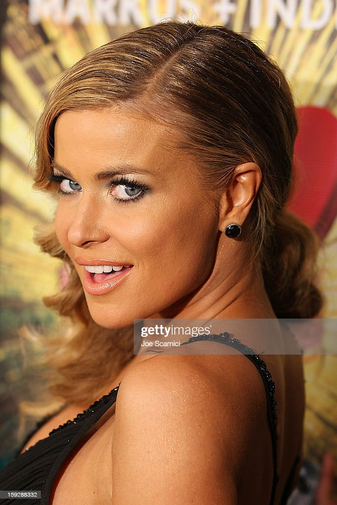 Carmen Electra arrives at Markus + Indrani Icons book launch party hosted by Carmen Electra benefiting The Trevor Project at Merry Karnowsky Gallery & Graffiti on January 10, 2013 in Los Angeles, California.
