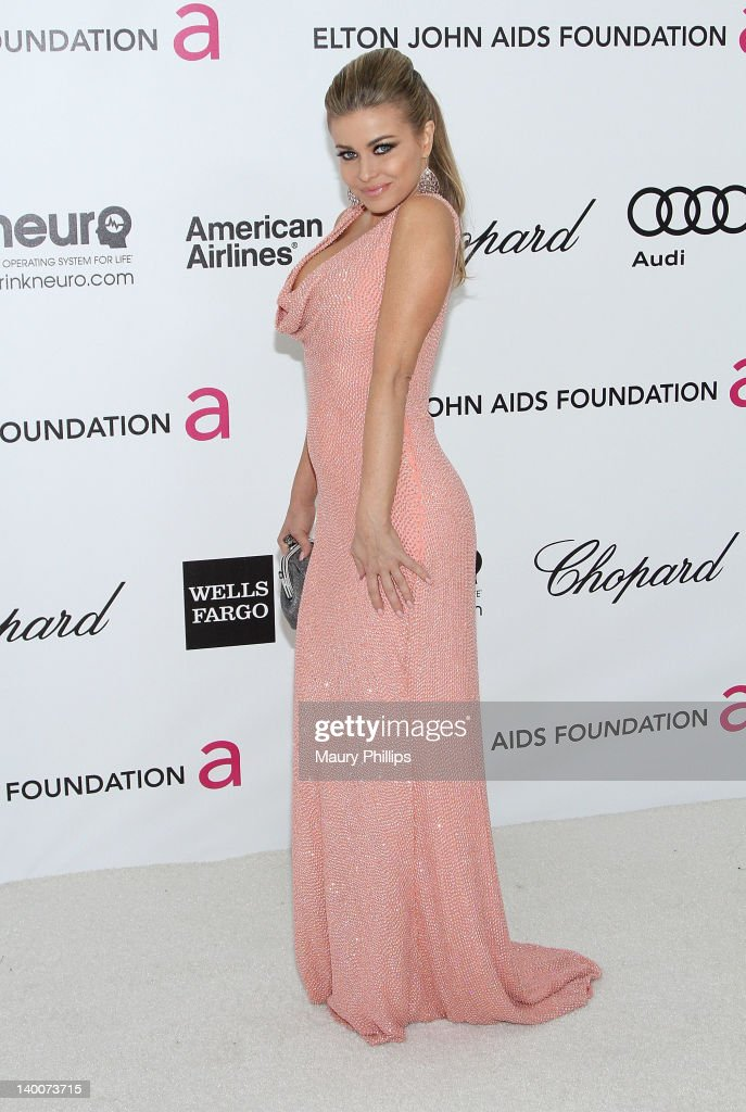 Carmen Electra arrives at the 20th Annual Elton John AIDS Foundation Academy Awards Viewing Party at Pacific Design Center on February 26, 2012 in West Hollywood, California.