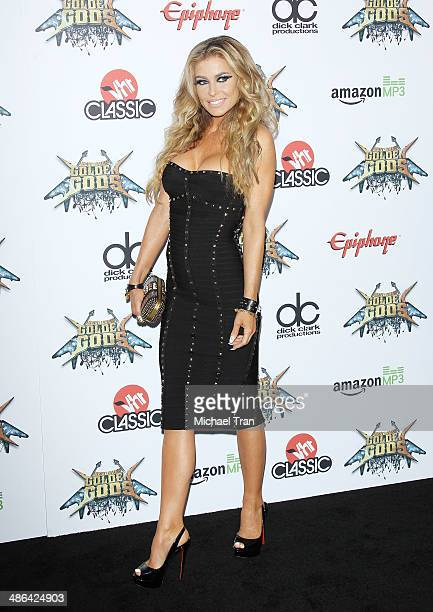 Carmen Electra arrives at the 6th Annual Revolver Golden Gods Award Show held at Club Nokia on April 23 2014 in Los Angeles California