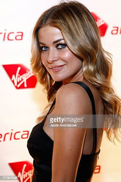 Carmen Electra arrives at Tryst nightclub inside Wynn Las Vegas for a Virgin Airlines party to celebrate Virgin Airlines inaugural flight to Las...