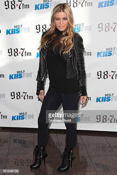 Carmen Electra attends the 1027 KIIS FM and Star 987 host 5th annual celebrity and artist lounge celebrating the 55th annual GRAMMYS at ESPN Zone At...