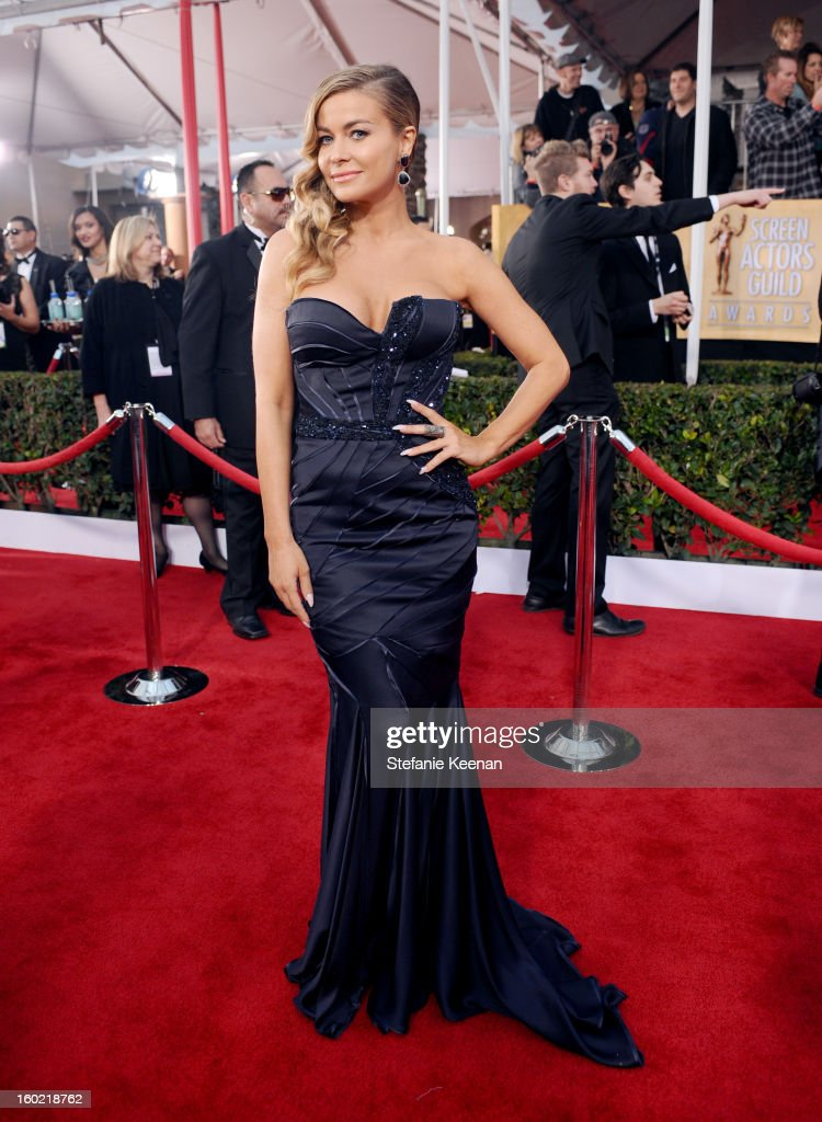 Carmen Electra attends the 19th Annual Screen Actors Guild Awards at The Shrine Auditorium on January 27, 2013 in Los Angeles, California. (Photo by Stefanie Keenan/WireImage) 23116_025_1735.JPG