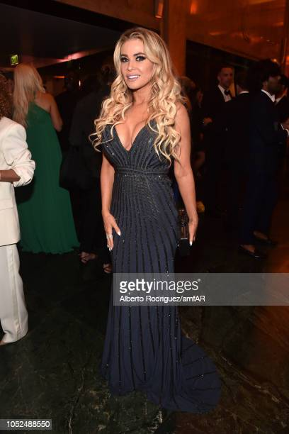 Carmen Electra attends the amfAR Gala Los Angeles 2018 at Wallis Annenberg Center for the Performing Arts on October 18 2018 in Beverly Hills...